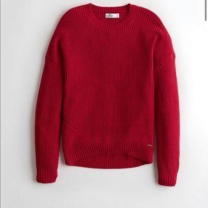 Hollister Red Crewneck Sweater
